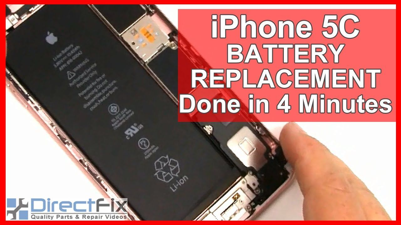 How to iPhone 5C Battery Replacement shown in 4 Minutes