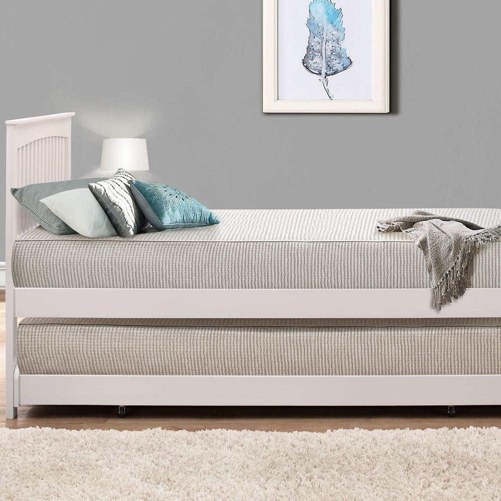 Toronto White Wooden Guest Bed and Trundle Guest bed