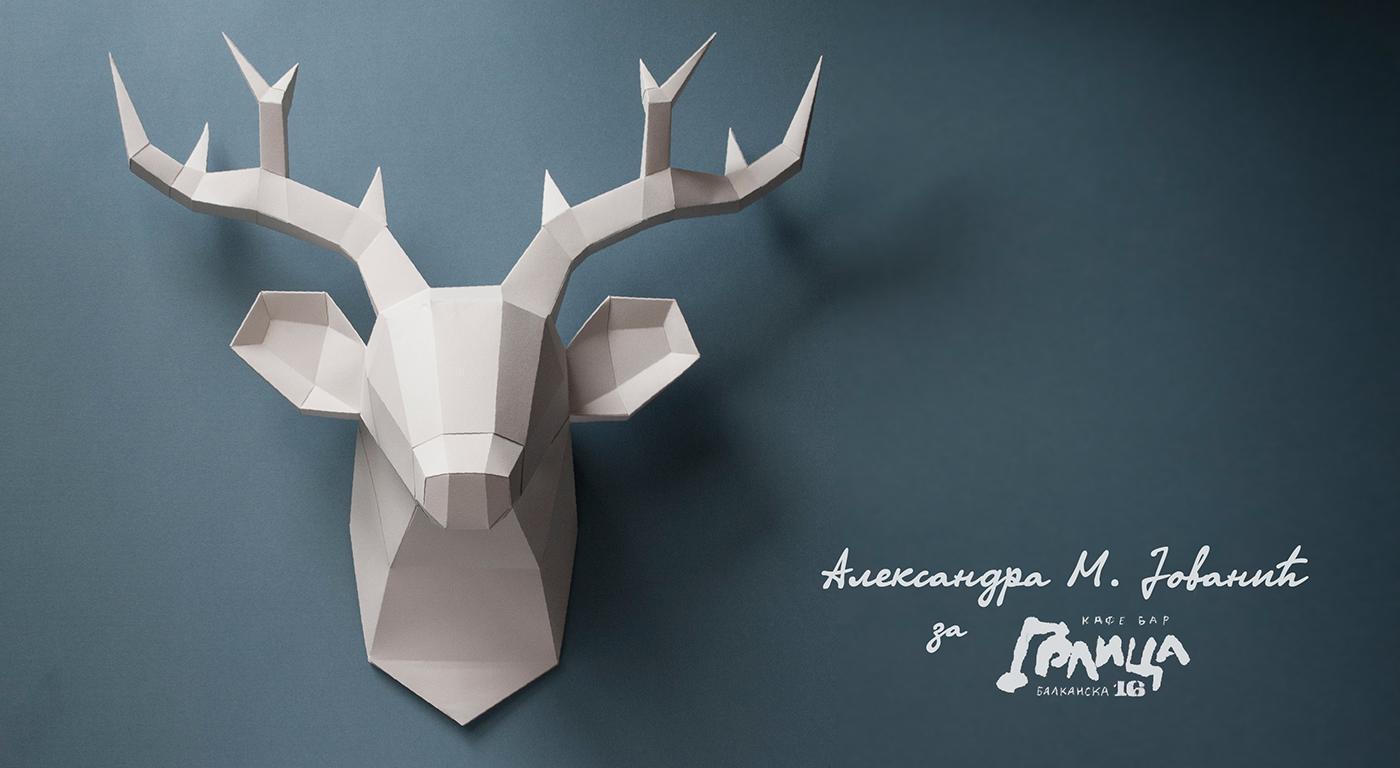 polygonal deer - Google Search | Polygonal Creatures | Pinterest ...