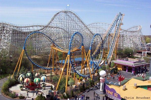 Flashback Six Flags New England Agawam Massachusetts Usa Operating Since 5 5 2000 Roller Coaster Steel Sit Amusement Park Rides Roller Coaster Agawam