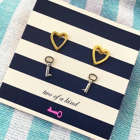 "Love these #heart and #key earrings!  Super cute!  KEEP has more than bracelets...we also have pendants too. But the bracelets are what really speak to me. I'll try to post more pendants. But #truth be told my earlobes are so dang small I can barely wear earrings and have them look ""right"". Oh well... #loveyourimperfections"