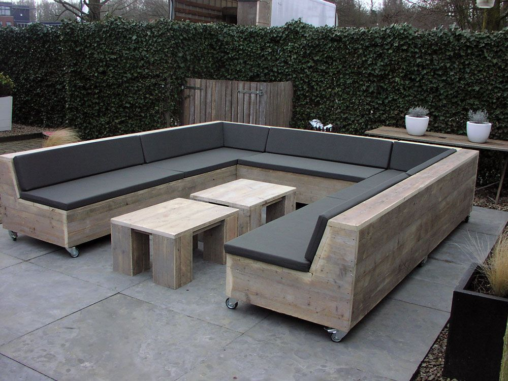 steigerhout loungeset garten und balkon pinterest g rten gartenmoebel und chillen. Black Bedroom Furniture Sets. Home Design Ideas
