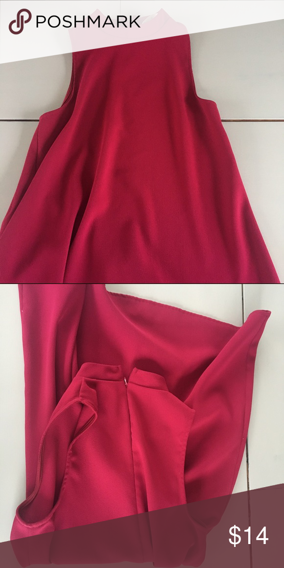 Red halter dress Pretty thick material, Everly brand, perfect for holidays Everly Dresses Midi