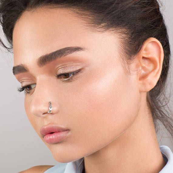 Faux nose hoop Opal fake nose ring Faux nose ring Fake nose piercing Non pierced nose ring Fake nose ring Fake nose hoop Nose jewelry