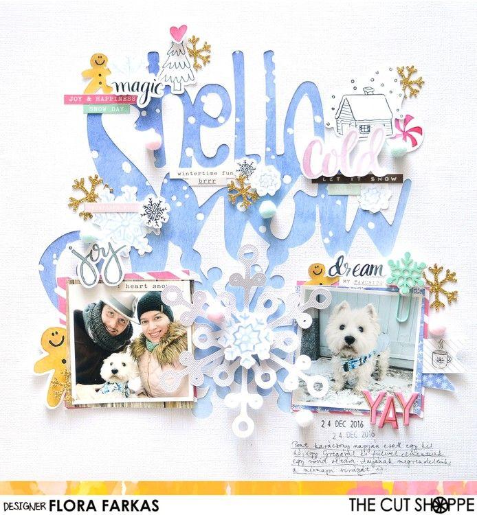 Hello Snow by flora11 at @studio_calico