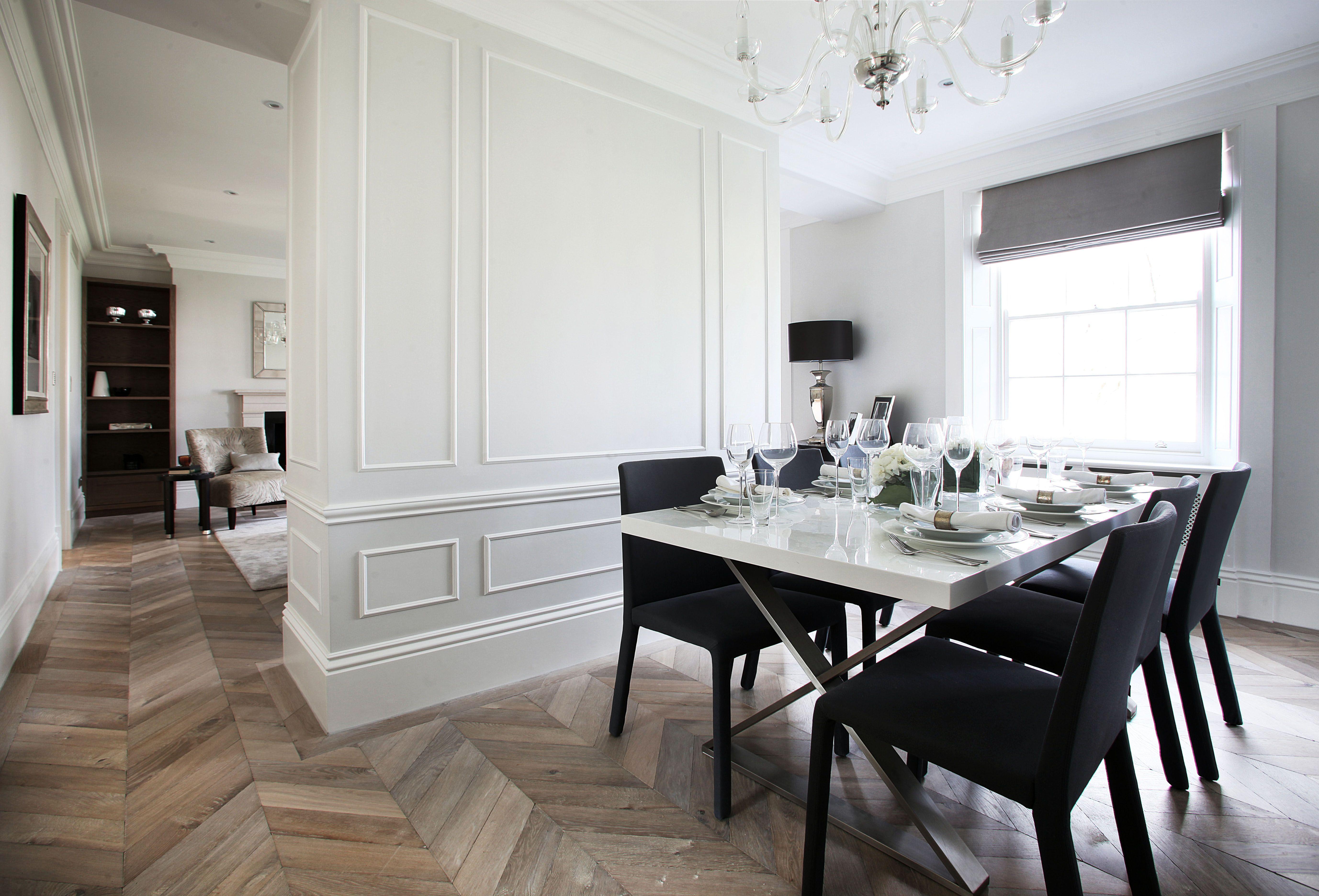 Best Farrow And Ball Strong White Walls Oak Chevron Floor Www 400 x 300
