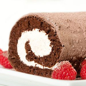 Chocolate Roulade with Raspberries (dairy-free, gluten-free, nut-free and soy free)
