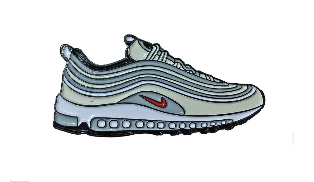 "Nike Silver ""OG"" Air Max 97 Lapel Pin"