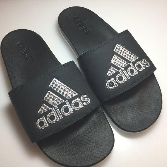 5ad8428a3b022 Custom adida Women's Swarovski Adidas® ADILETTE SLIDE SANDAL ...