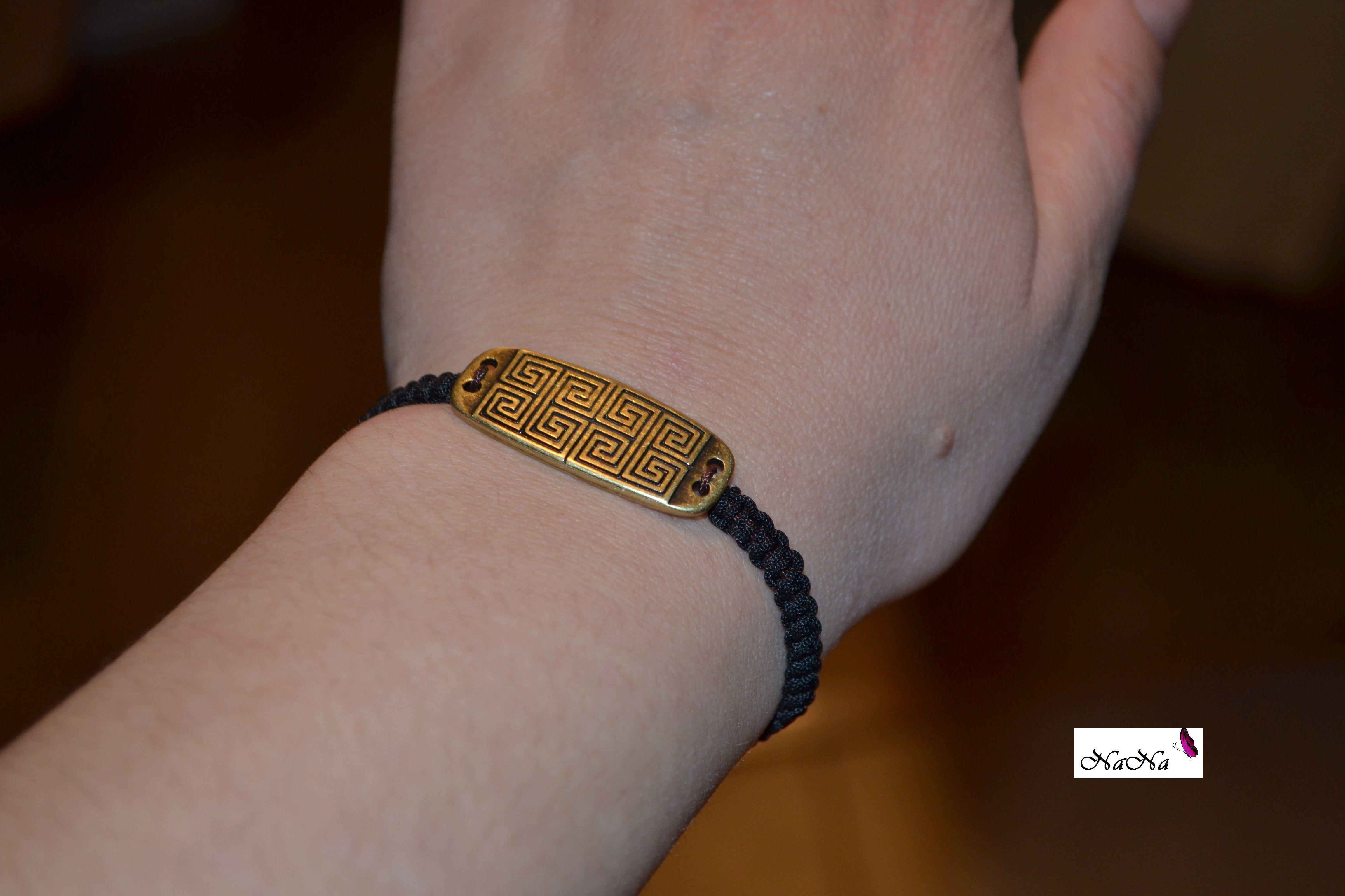 Black Macrame Bracelet/ Pulsera macrame de color negro