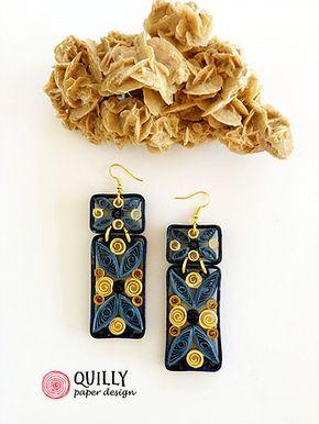 gioielli di carta dipinti a mano, ispirati alla cultura del medio-oriente