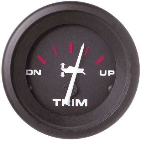 SeaStar Solutions Amega Trim Gauge for Honda, Black