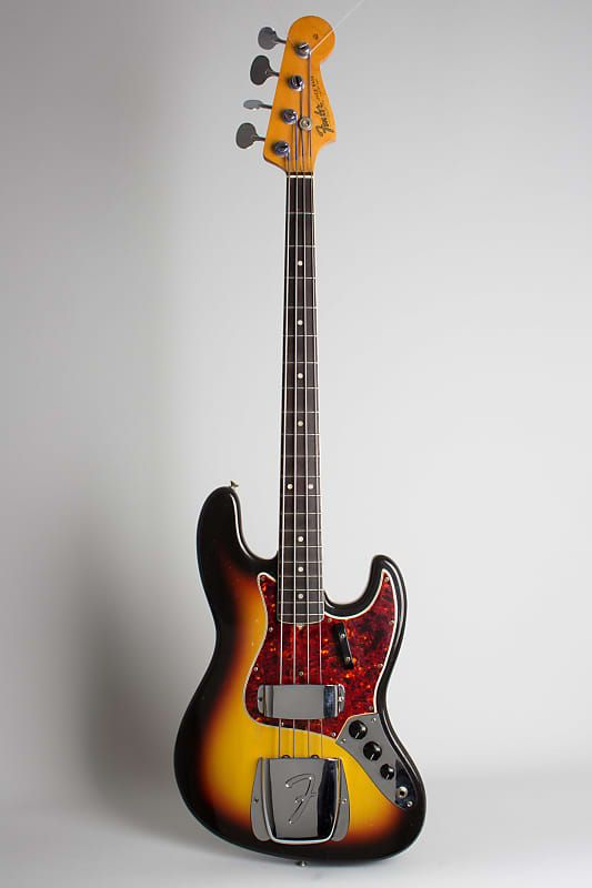 Fender  Jazz Bass Solid Body Electric Bass Guitar (1966), ser. #157772, original black hard shell case. #vintageguitars