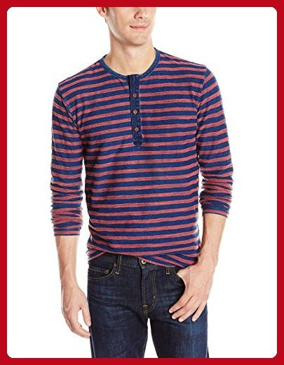 dcb5a7b5 Lucky Brand Men's Stripe Long-Sleeve Henley, Indigo Multi, X-Large - Mens  world (*Amazon Partner-Link)
