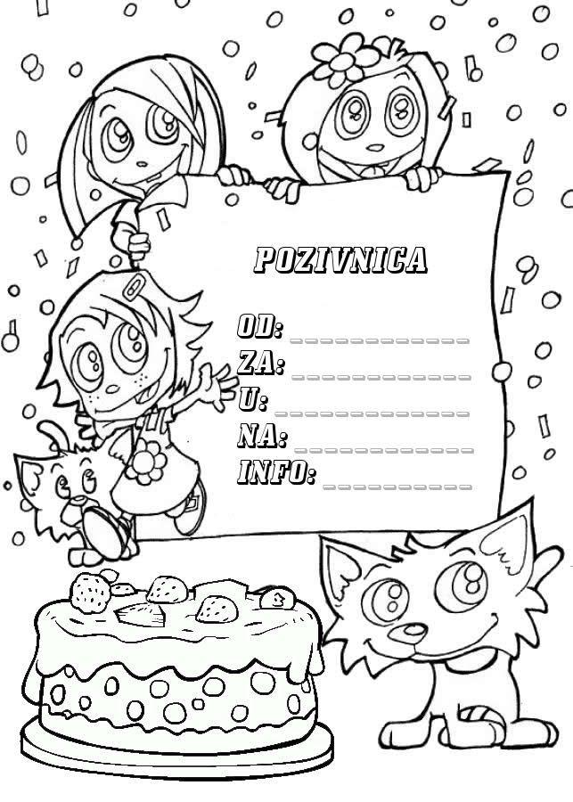 klaun za rođendan split Pozivnice za rođendan za printanje i bojanje   Iznenađenje za  klaun za rođendan split