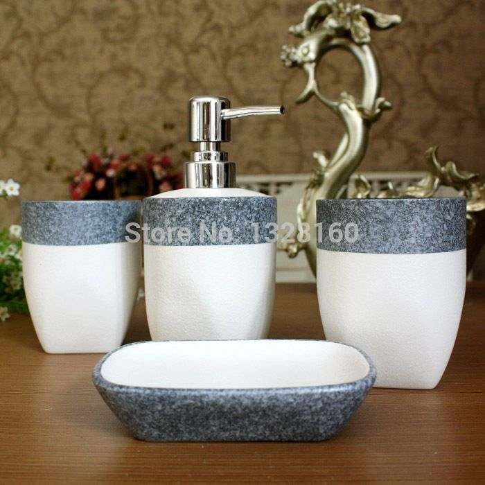 2014 Fashion Special Mediterranean Style Small Pure And Fresh And Ceramic Sanitary Ware 4 Piece Bathroom Toiletr Pure Products Mediterranean Style Toiletries Fashionable style ceramics for bathroom