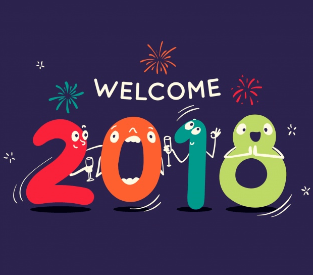 free happy new year 2018 background image