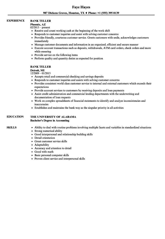resume for bank tellers incredible bank teller resume