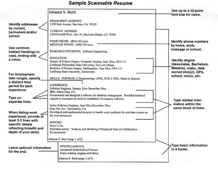 Scannable Resume Keywordscareer Resume Template Career Resume Template Resume Student Resume Template Resume Template