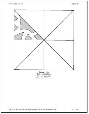 Mini Monsters Paper Snowflake Pattern Template Printable Paper