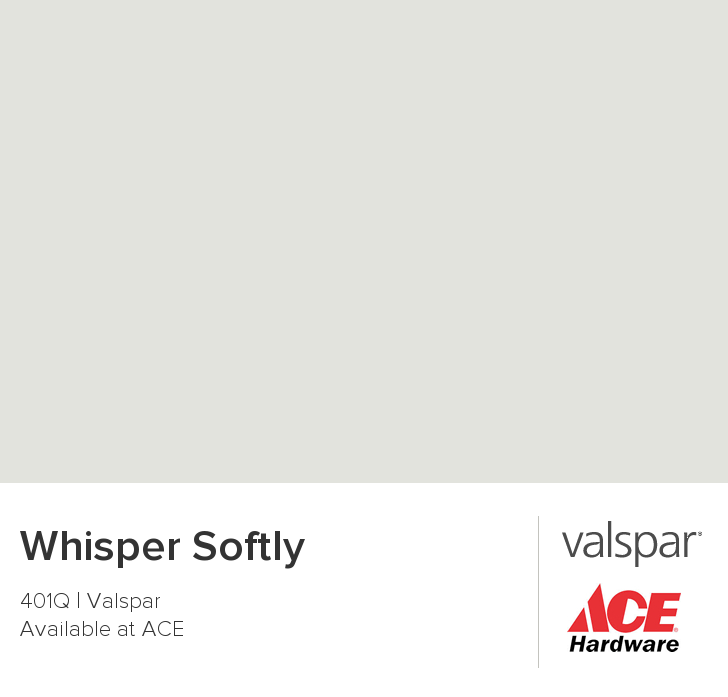 Whisper Softly From Valspar Downstairs Bath Looks A