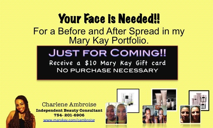 Your Face Is Needed For My Mary Kay Portfolio Free Gift