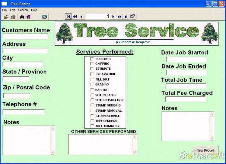 Get Our Image Of Tree Service Invoice Template Tree Service Invoice Template Tree Removal