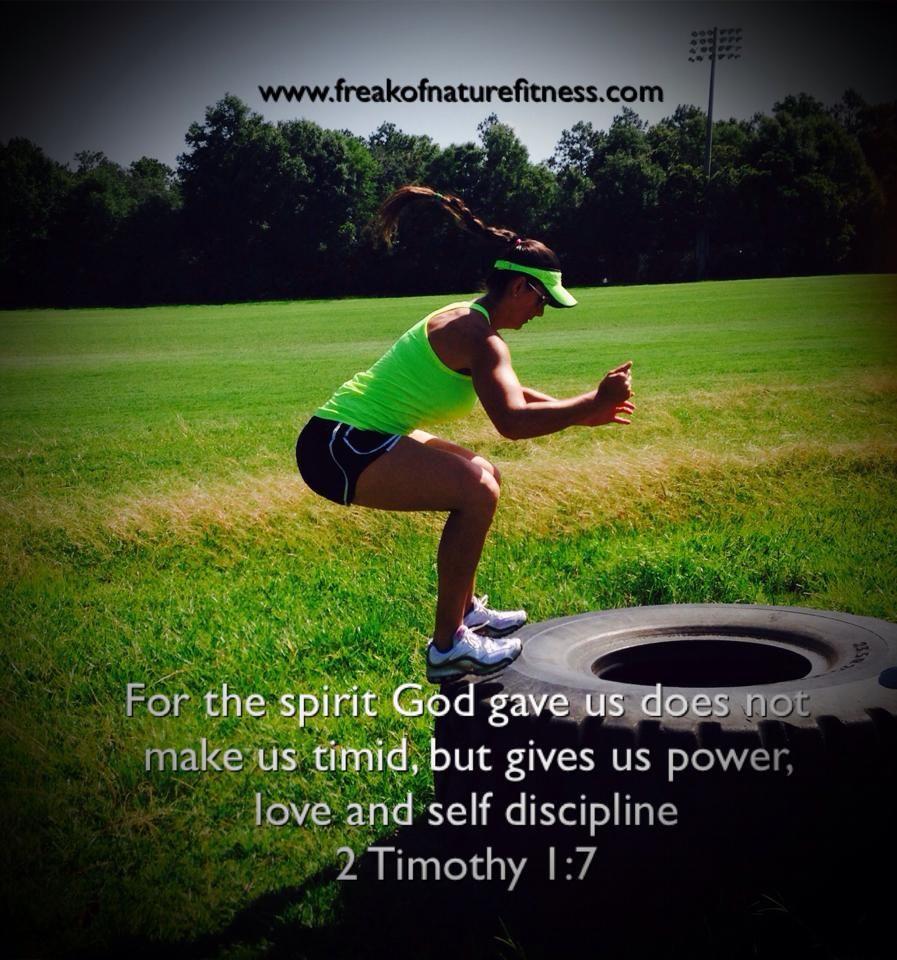 Faith Fitness Inspiration Jesus Bible Strength 2 Timothy 1 7 Workout Gym Motivation Www Freakofnaturefitness Co Gym Motivation Fitness Nutrition Fitness
