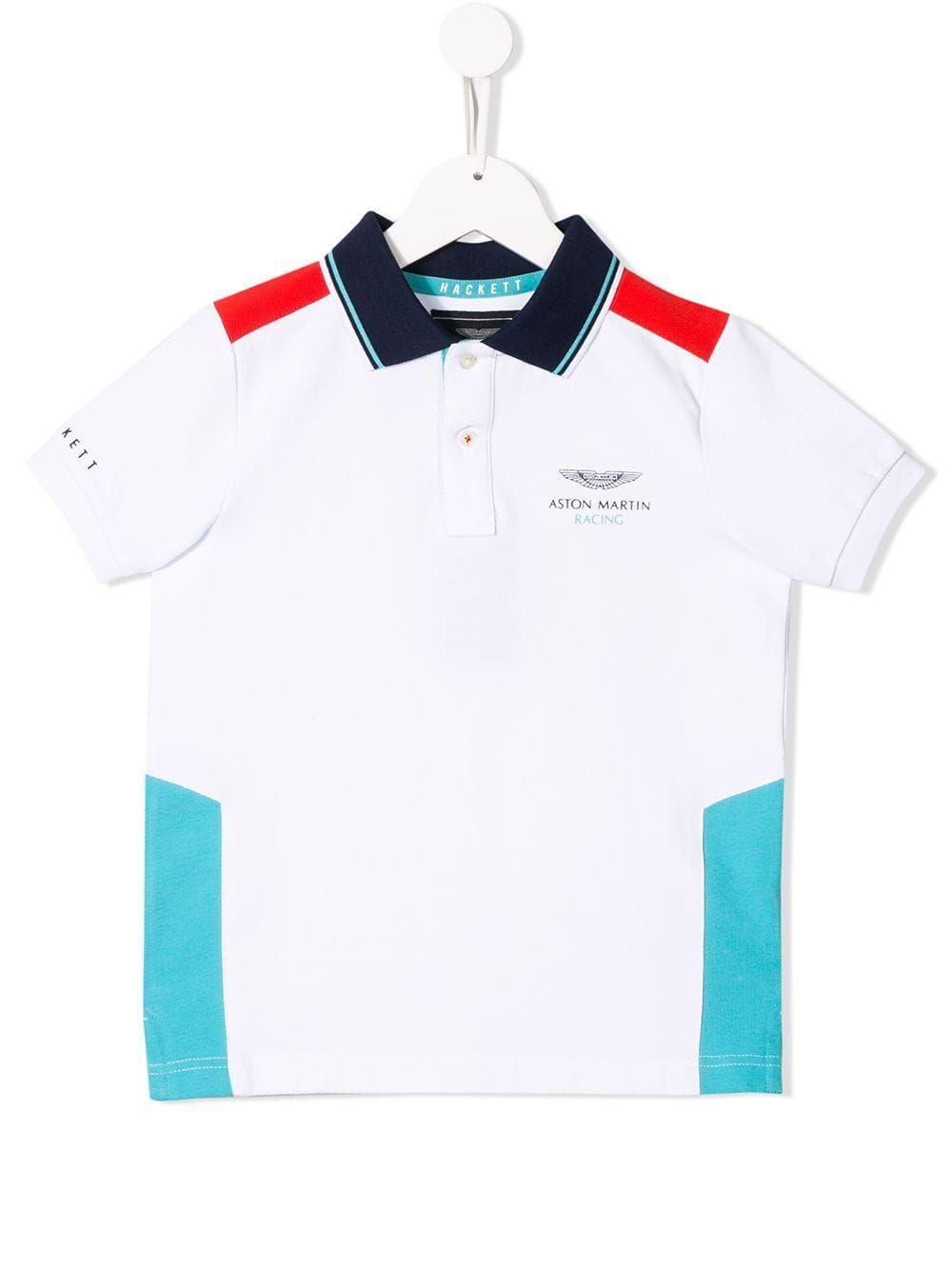 Hackett Kids Aston Martin polo shirt White | Polo shirt
