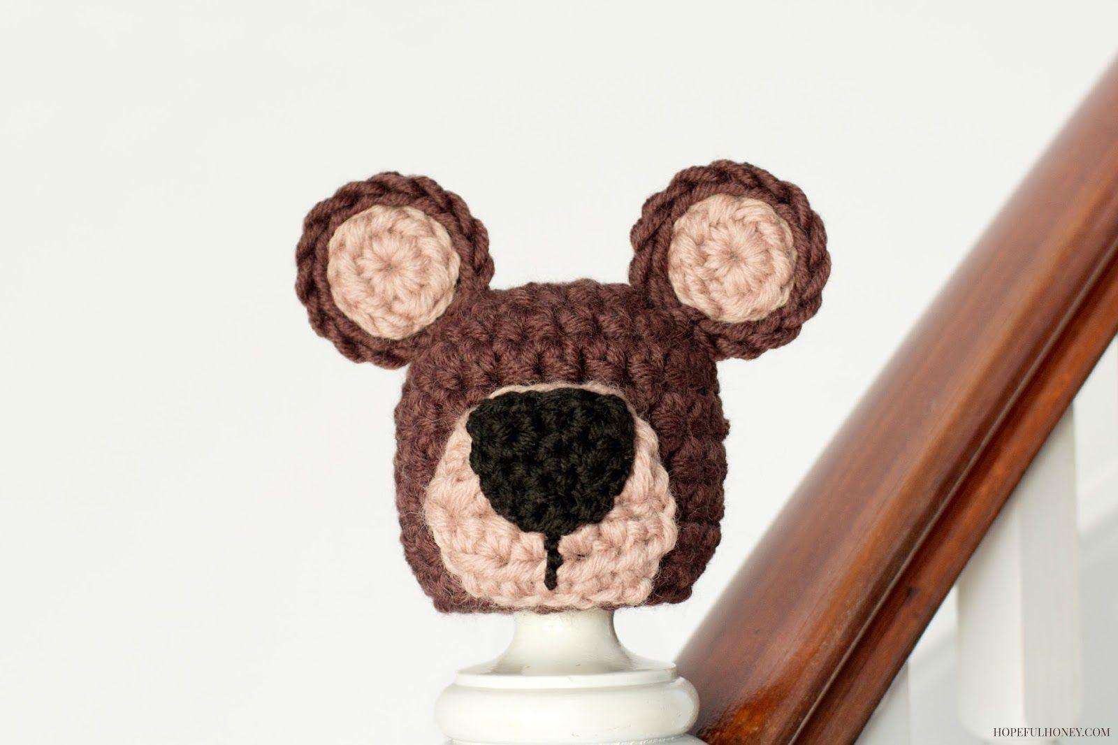 Newborn Teddy Bear Hat Crochet Pattern | Häkeln