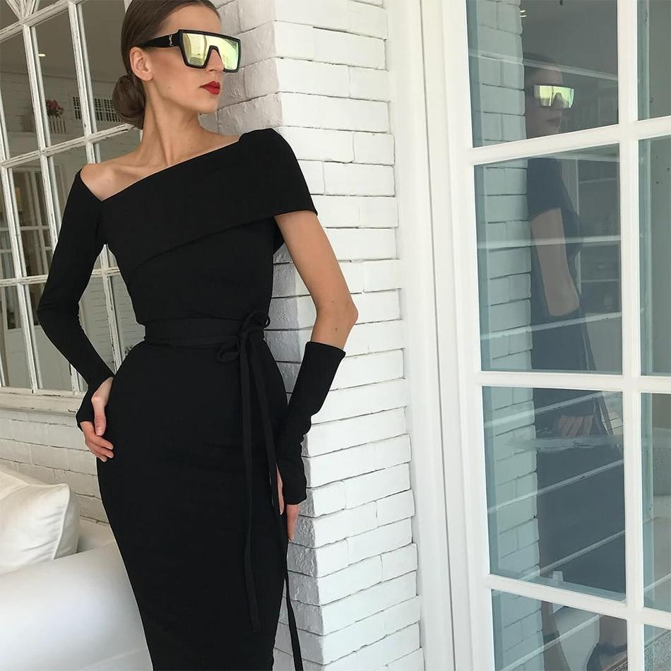 Women s New Summer Bandage Sexy Hollow Out Black Bodycon Luxury Party Dress e588a16b20b8