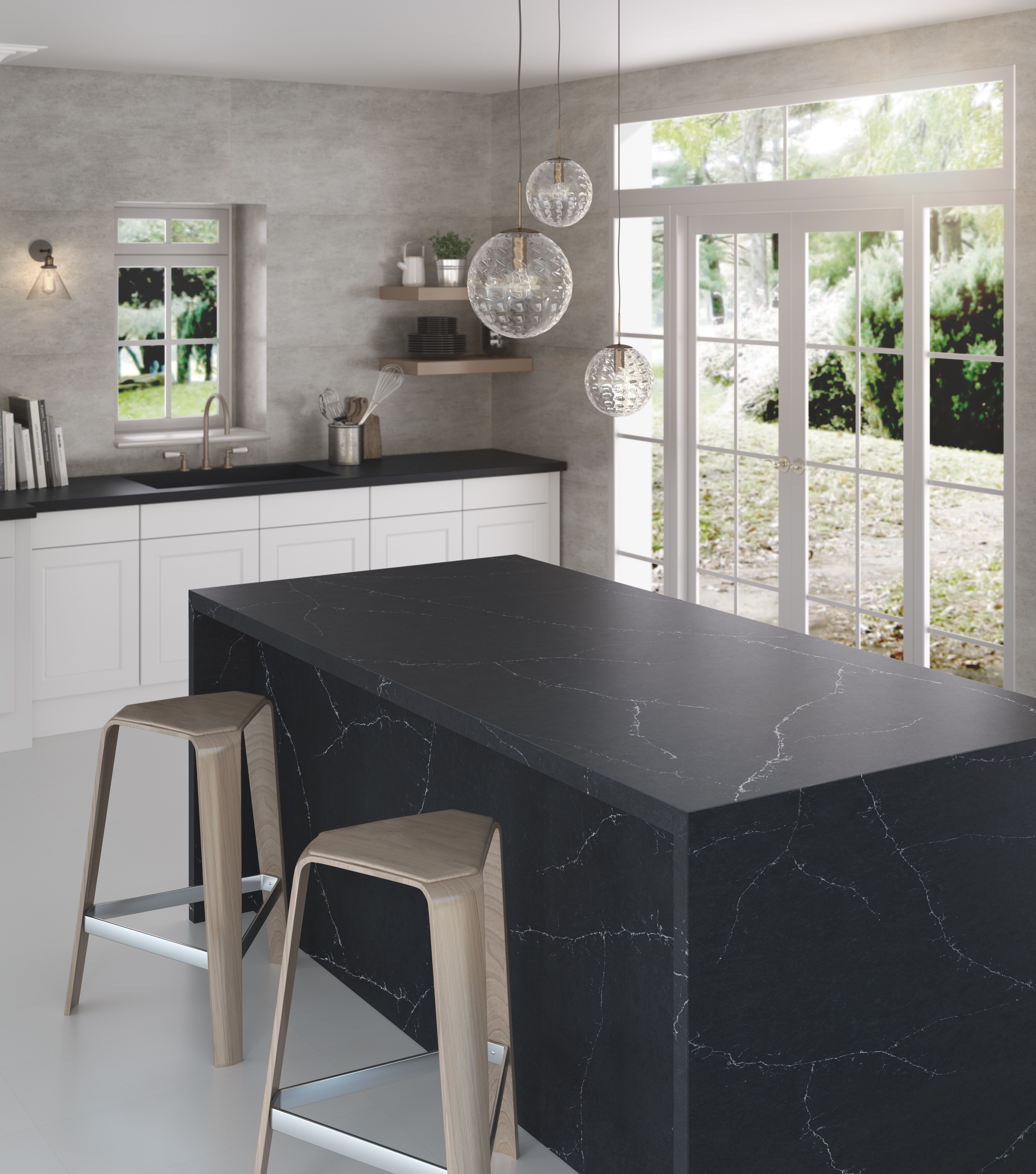 blissful charcoal soapstone quartz minimalist kitchen design outdoor kitchen countertops on outdoor kitchen quartzite id=64343