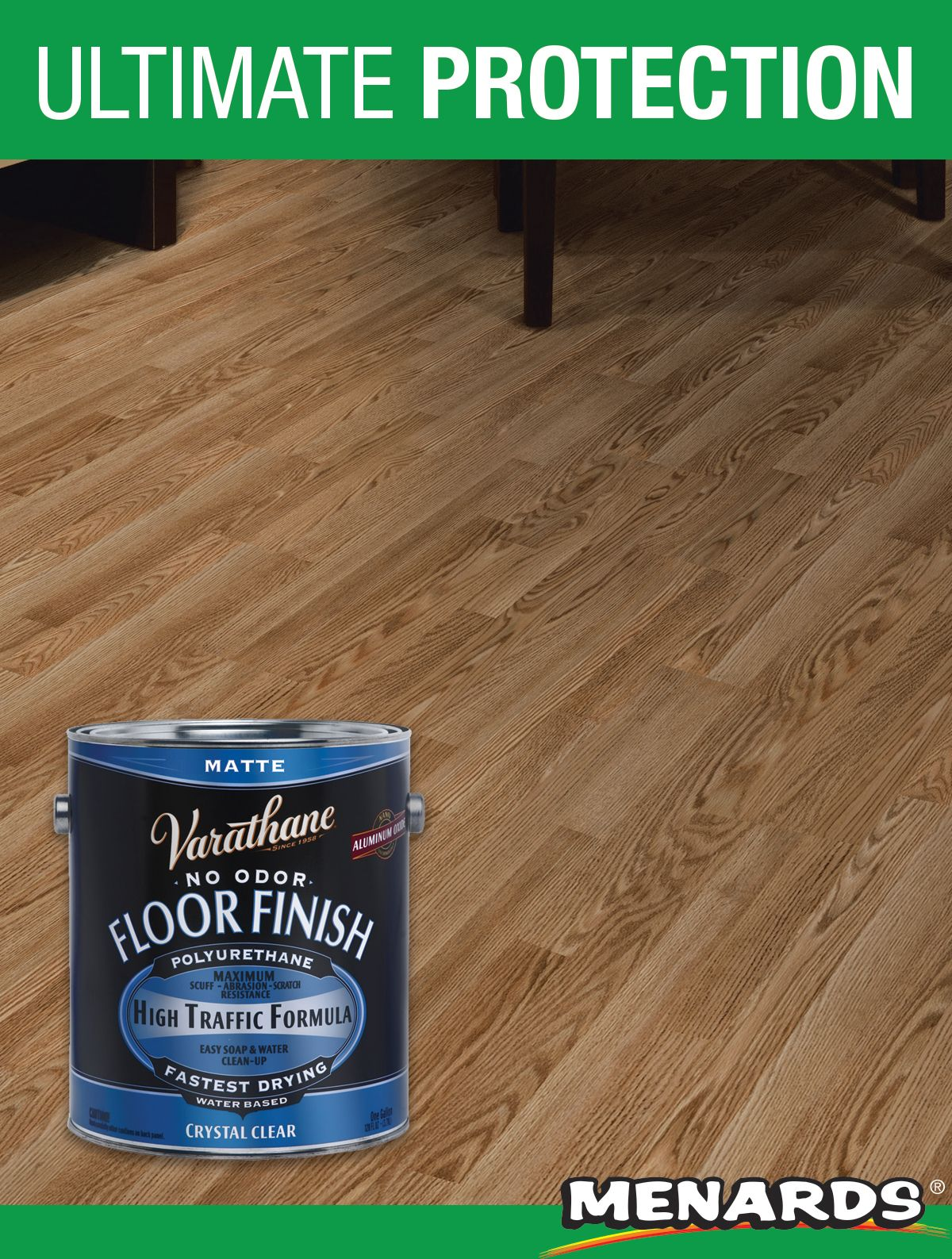 Varathane Crystal Clear Matte Water Based Floor Finish Floor Finishes Flooring It Is Finished