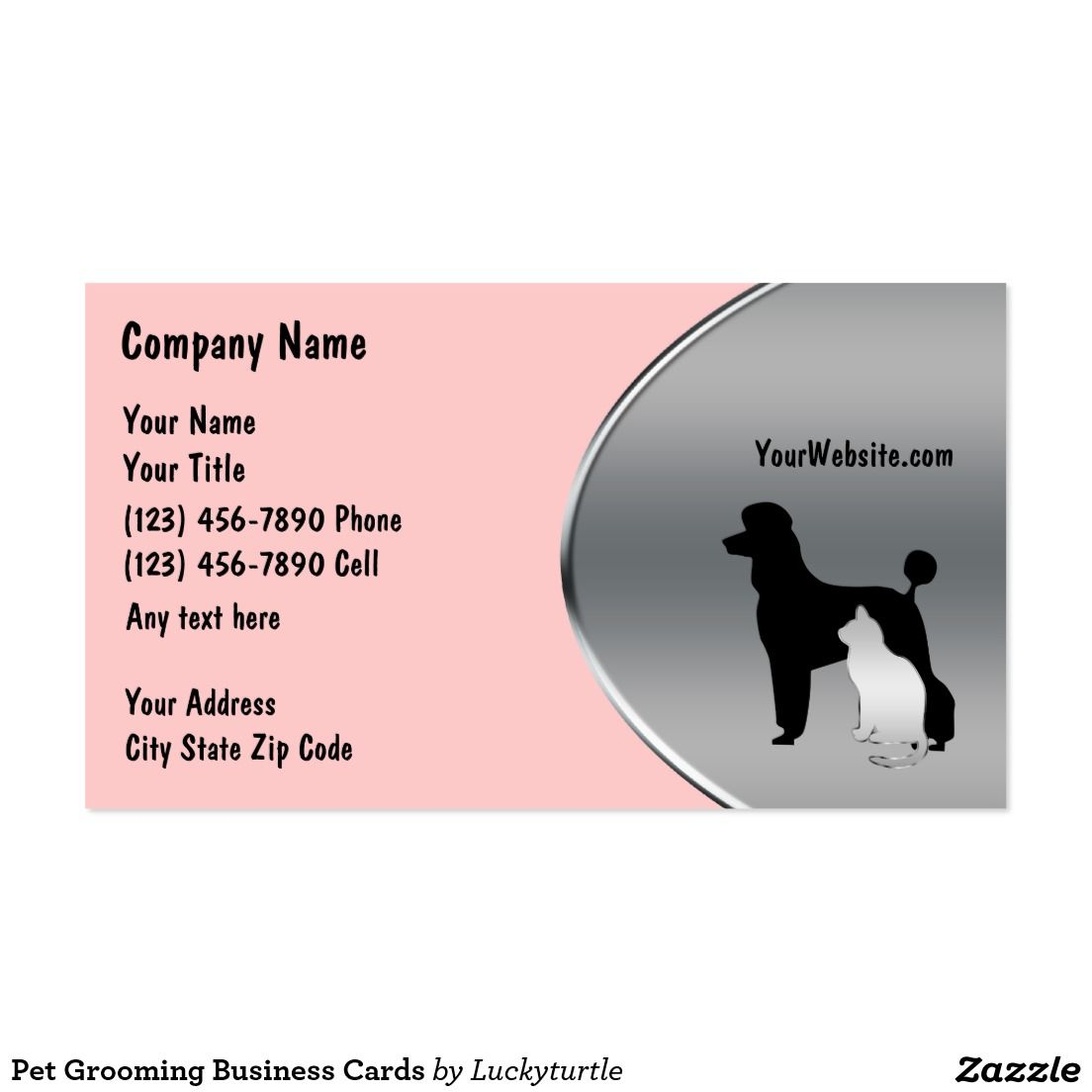 Grooming Business Cards