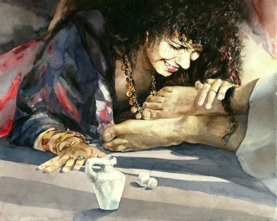 Overwhelming Love Christian Art Christian Watercolor