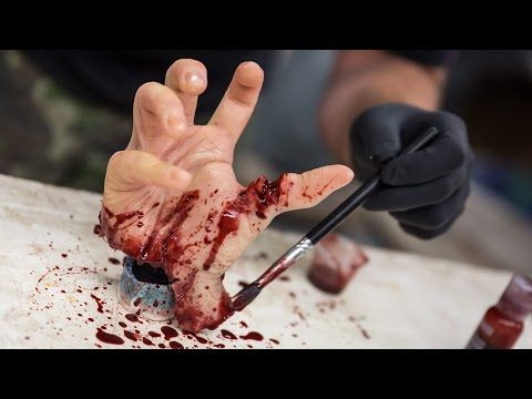 How To Make A Gory Hand Prop For Halloween Youtube