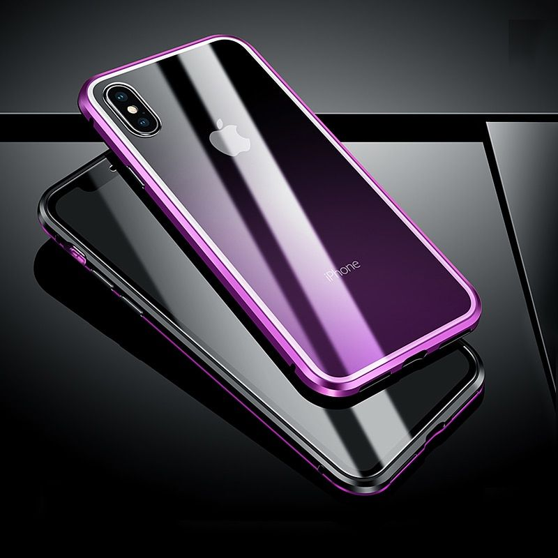 Magnetic Adsorption Transparent Tempered Glass Two Side Glass Cover Ph Pinkishcase Iphone Lg Phone Iphone Cases