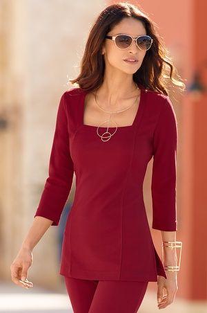 2de85b5b191 Boston Proper square-neck tunic top   My Style   Tunic tops, Fashion ...