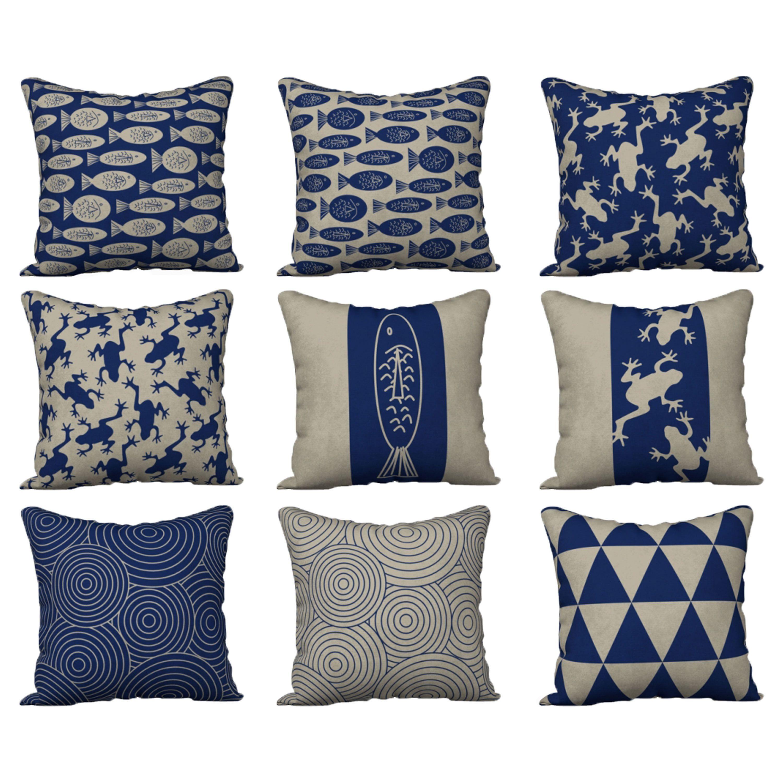 #Blue #Animals #Pillows #Navyblue #Beige #Frog #Fish #Cushions #PillowSham #Seasidecottage #homedeocrideas #homedocor #interiordecor by #WhimZingers on #Etsy #Etsyshop #Etsyseller #Smallbusiness #Artofwhere