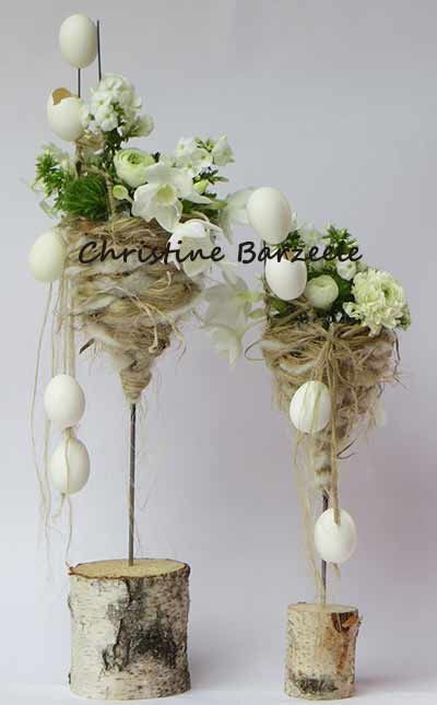 Photo of flower arranging brugge sijsele ardooie roeselare – Easter decoration garden concrete