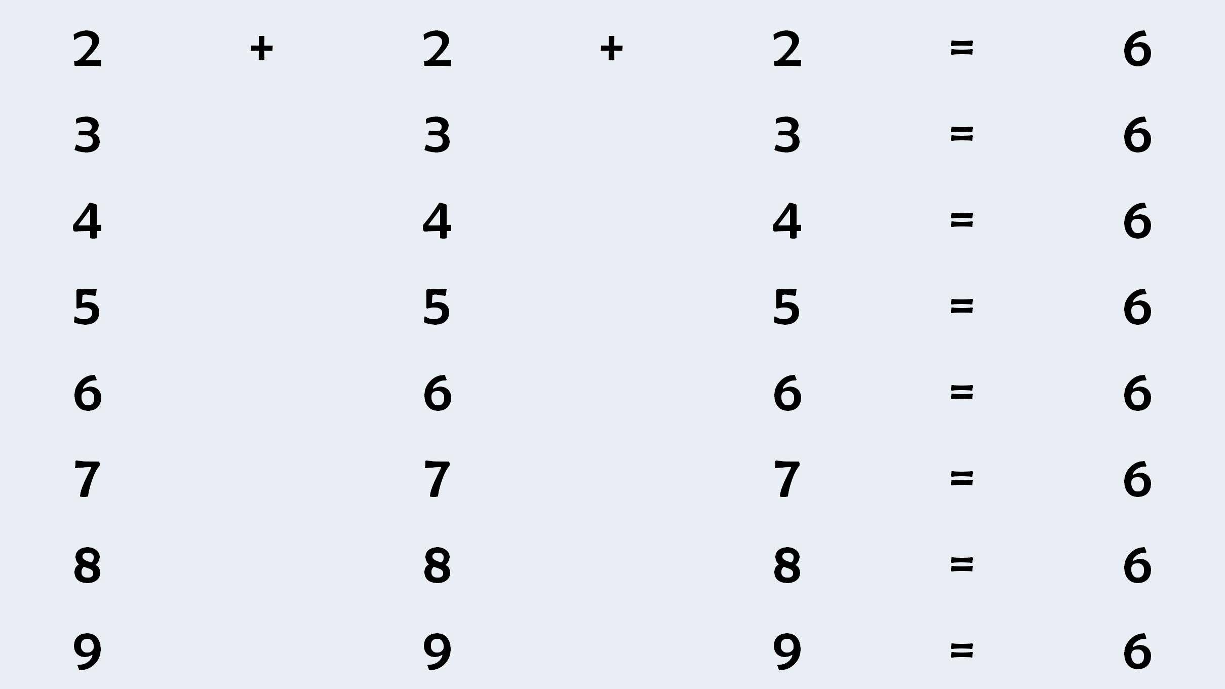 لغز ستة Math Math Equations
