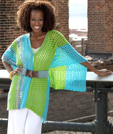 Multi Wear Poncho By Double Stitch Twins Free Crochet Pattern