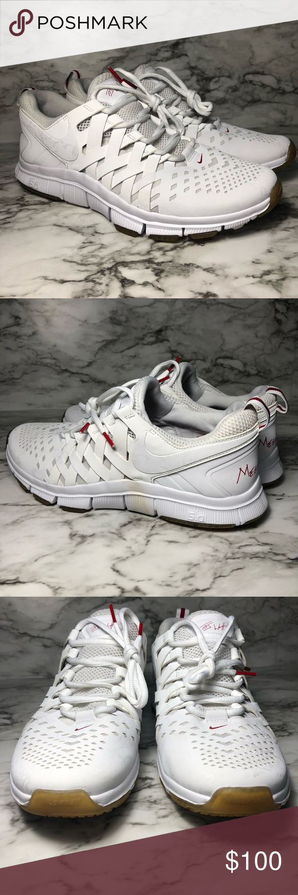 753609b4eb16 Nike Free Trainer 5.0 JJ Watt  Mega Watt  Brand  Nike Size  Men s 9.0  Condition  Good Condition! Yellow stain on one side of one of the shoe (As  shown in ...