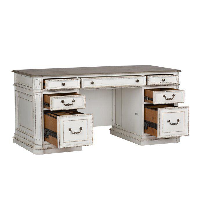 Audrey Executive Desk Antique White Desk Executive Desk White Desks