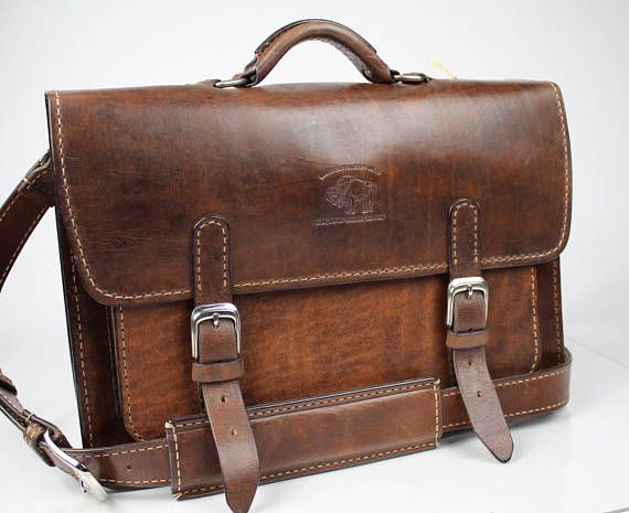 2d44cf02eca3 Rustic Distressed Leather Messenger Bag Leather Briefcase Laptop Satchel  fits Macbook Pro 15