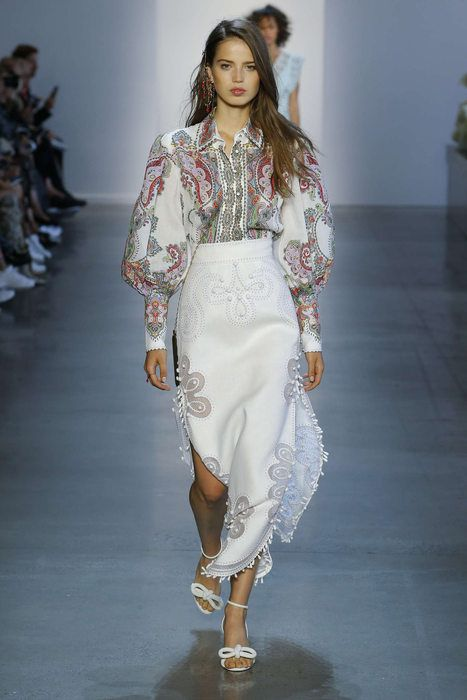 Zimmermann Feminine Dresses New York Fashion Week: Zimmermann, Printemps/été 2019, New York, Womenswear