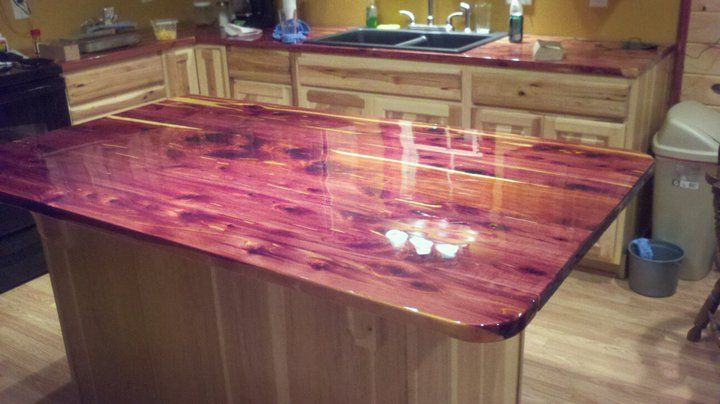 Red Cedar And A Good Sealer Makes A Perfect Countertop To Go With