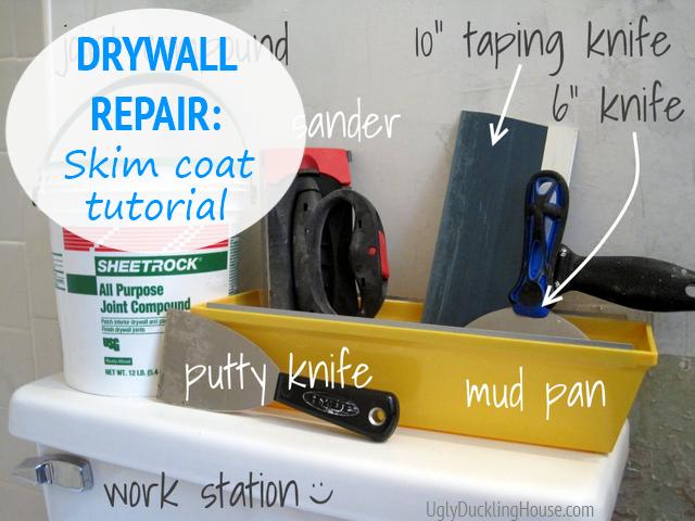 How To Fix And Skim Coat Damaged Drywall Drywall Repair Diy Home Repair Repair