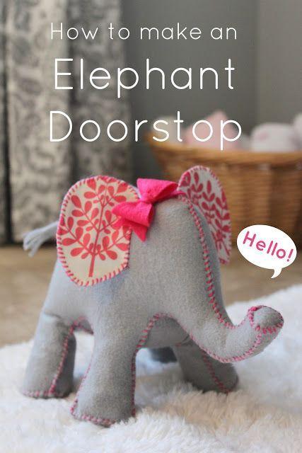 Elefanten Türstopper | basteln | Pinterest | Türstopper, Elefanten ...