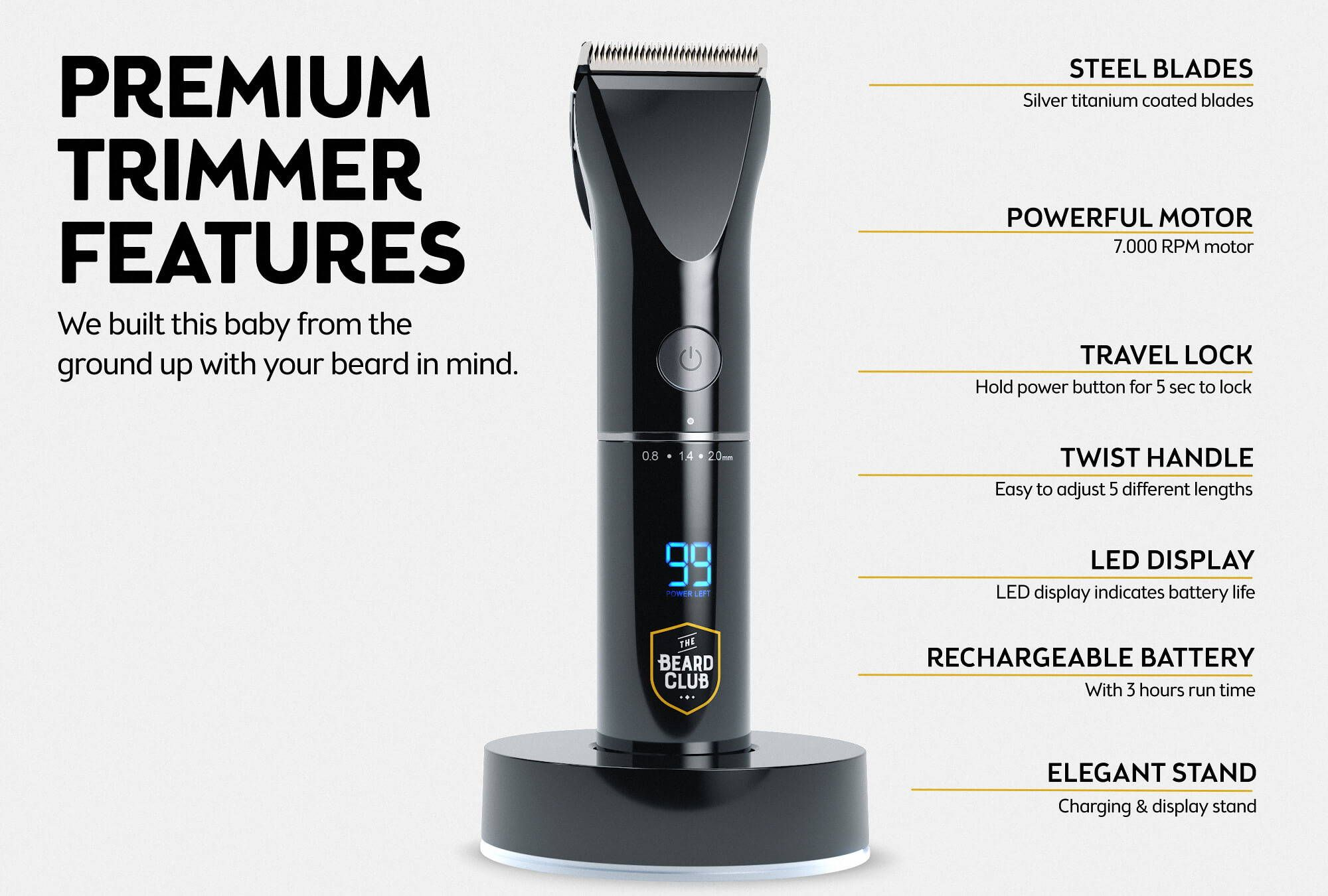 PT45 Beard and Hair Trimmer – The Beard Club